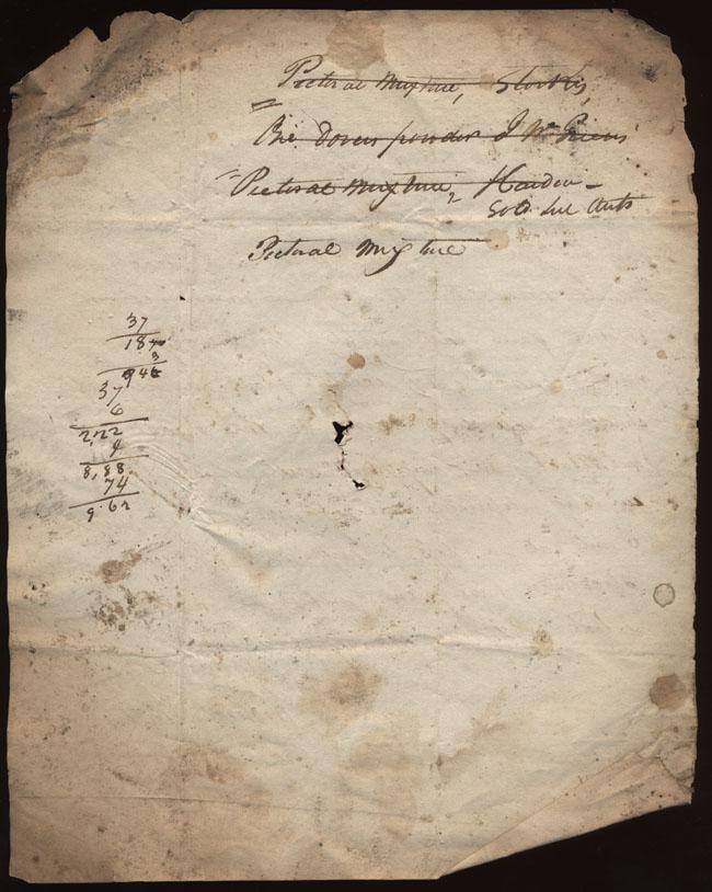 Box1/1819_1820Carmichael_Correspondence/1819Dec01/verso