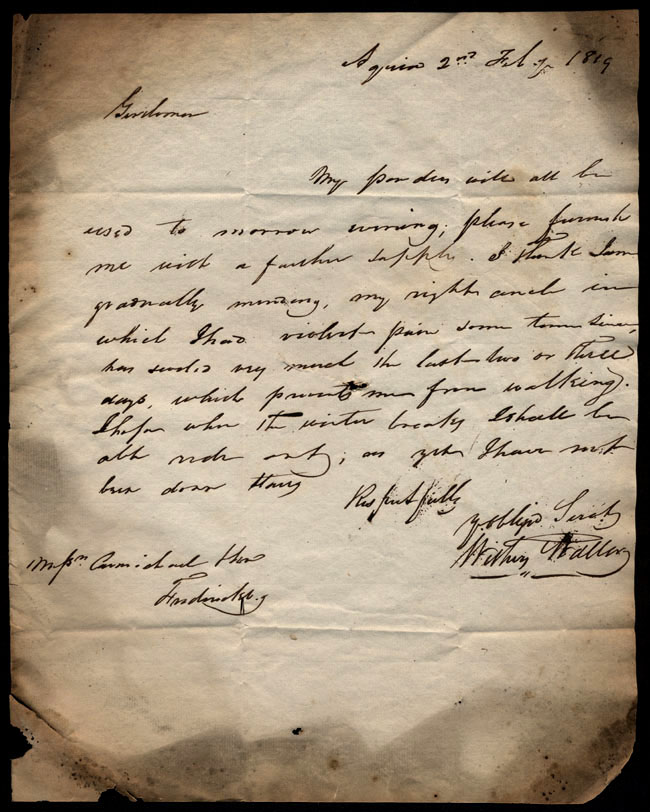 Box1/1819_1820Carmichael_Correspondence/1819Feb02/recto