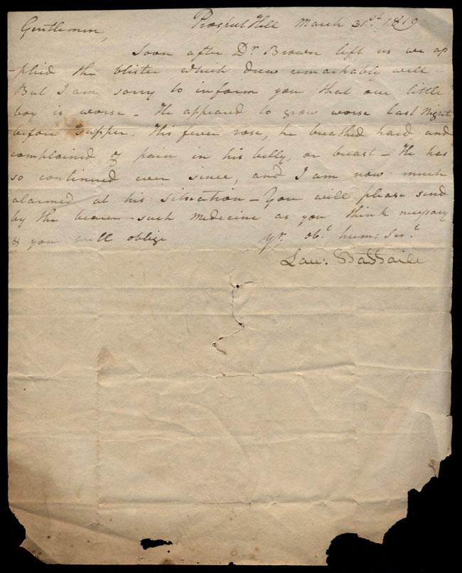 Box1/1819_1820Carmichael_Correspondence/1819Mar31/recto