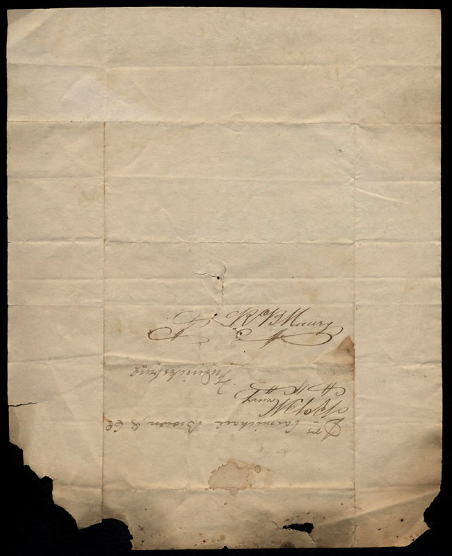 Box1/1819_1820Carmichael_Correspondence/1819Mar31/verso