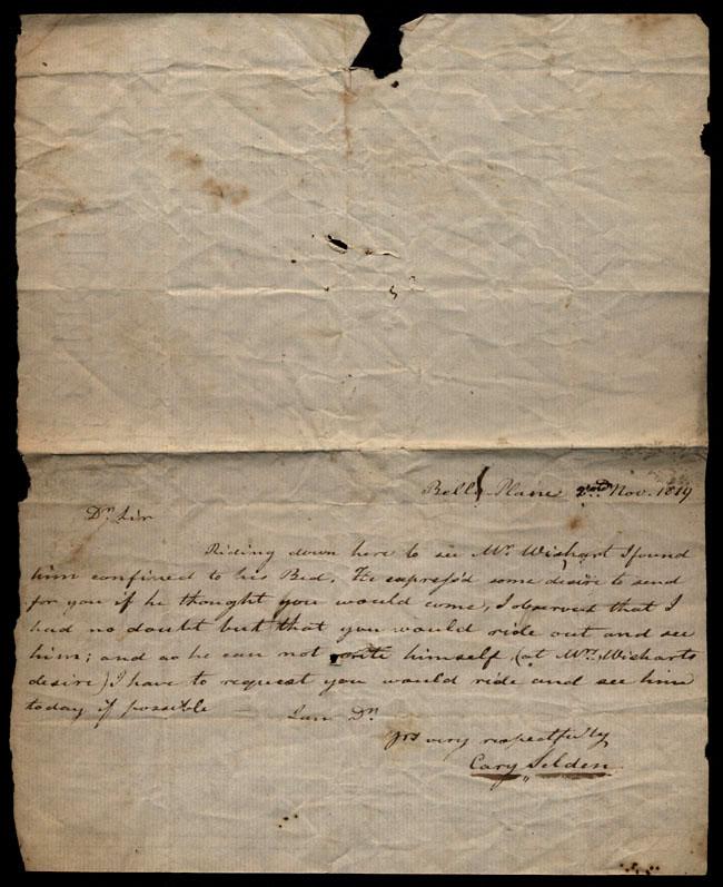 Box1/1819_1820Carmichael_Correspondence/1819Nov02/recto