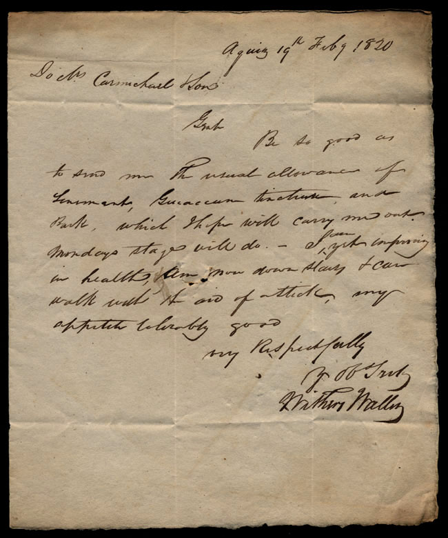 Box1/1819_1820Carmichael_Correspondence/1820Feb19/recto