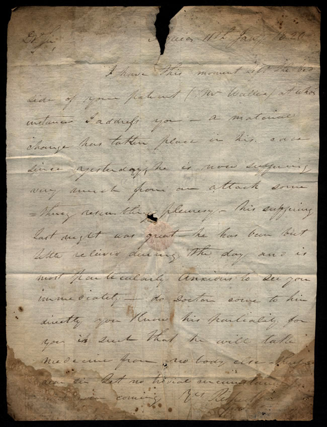 Box1/1819_1820Carmichael_Correspondence/1820Jan11_W_/recto