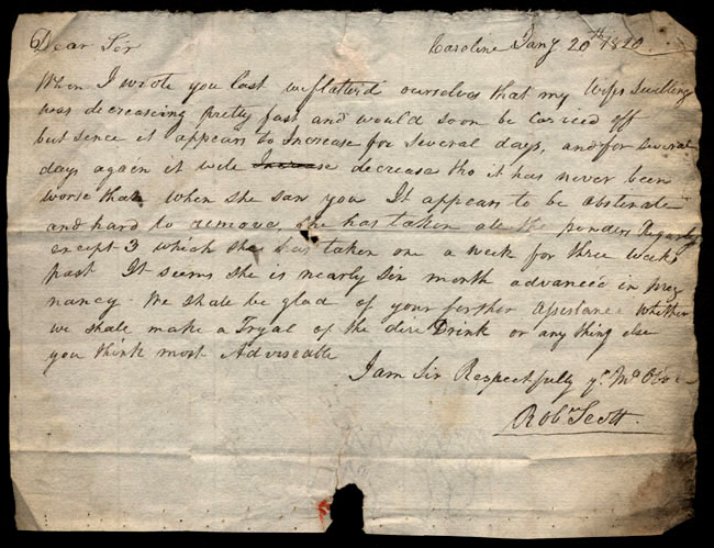 Box1/1819_1820Carmichael_Correspondence/1820Jan20/recto