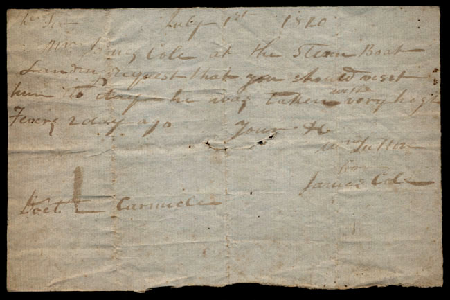 Box1/1819_1820Carmichael_Correspondence/1820Jul01/recto