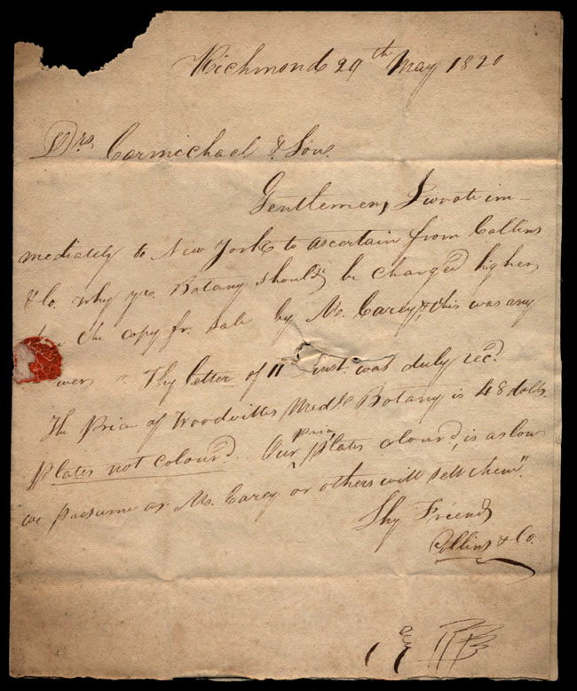 Box1/1819_1820Carmichael_Correspondence/1820May29_Collins/pg1
