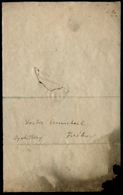 Box1/1819_1820Carmichael_Correspondence/1820Sep09_Strachan/verso