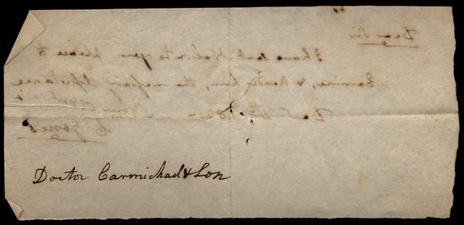 Box1/1821Carmichael_Correspondence/1821Dec04/verso