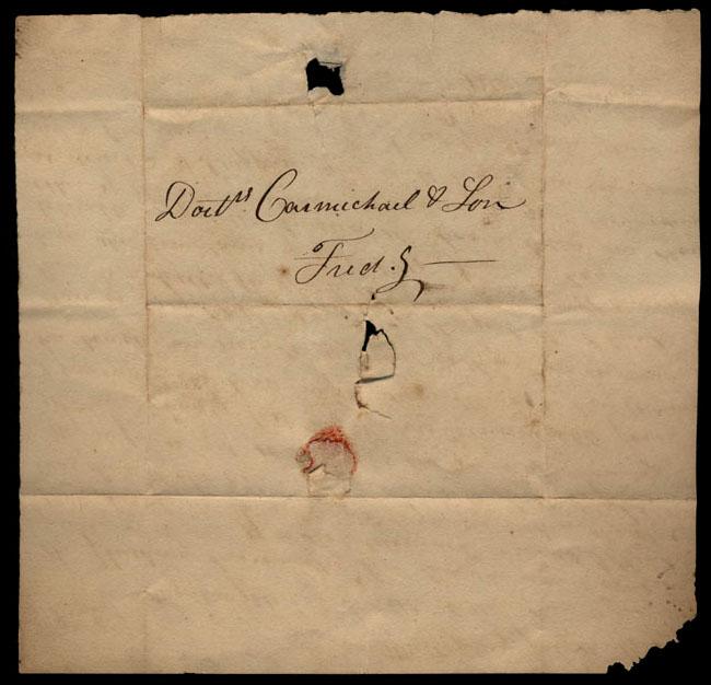 Box1/1821Carmichael_Correspondence/1821Jul11/verso