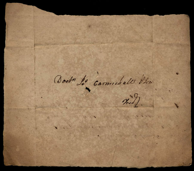Box1/1821Carmichael_Correspondence/1821Jul26_Mitchell/verso