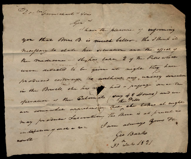 Box1/1821Carmichael_Correspondence/1821Jul30/recto