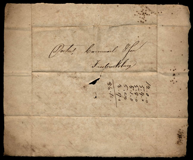 Box1/1821Carmichael_Correspondence/1821Oct07_Samuels/verso