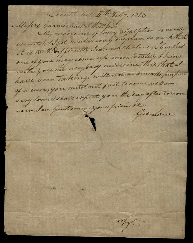 Box1/1823Jan_MayCarmichael_Correspondence/1823Feb04/recto