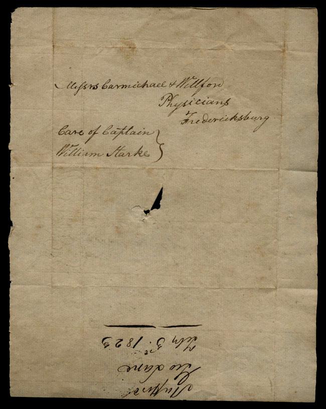 Box1/1823Jan_MayCarmichael_Correspondence/1823Feb04/verso