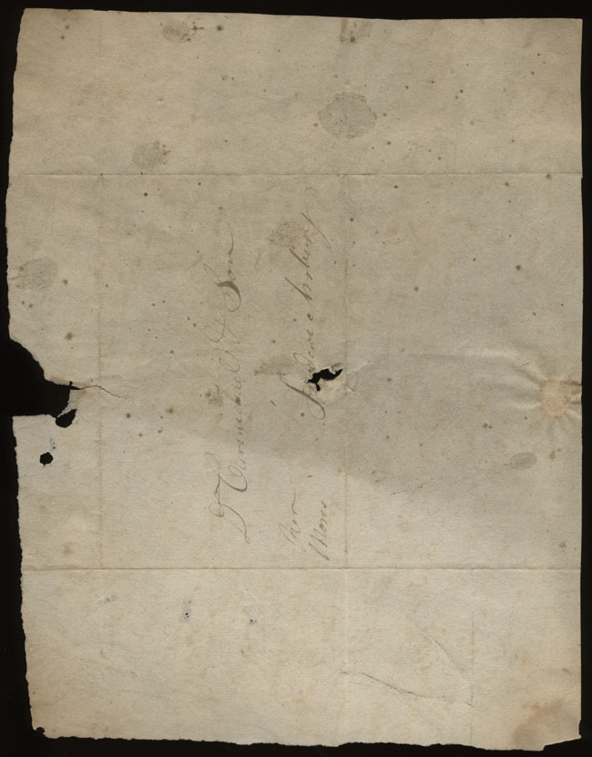 Box1/1823Jan_MayCarmichael_Correspondence/1823Feb15/verso