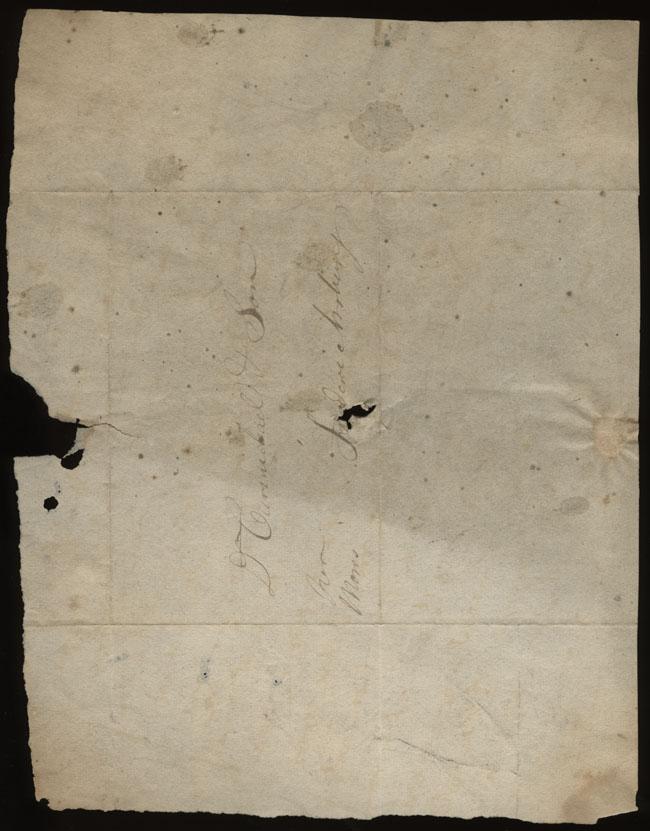 Box1/1823Jan_MayCarmichael_Correspondence/1823Feb15/verso
