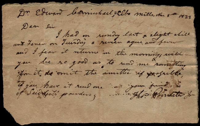 Box1/1823Jan_MayCarmichael_Correspondence/1823Mar05/recto