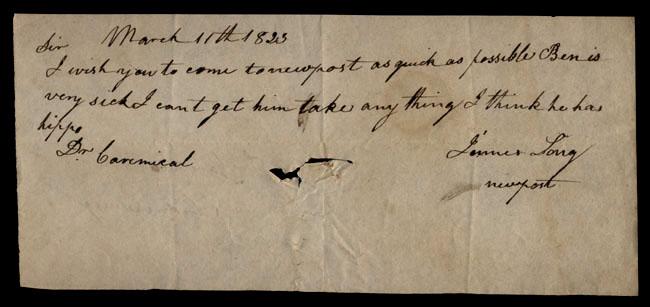 Box1/1823Jan_MayCarmichael_Correspondence/1823Mar11/recto