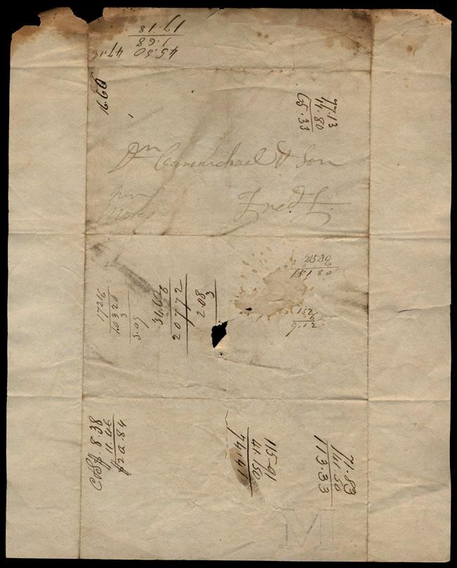 Box1/1823Jan_MayCarmichael_Correspondence/1823Mar18/verso