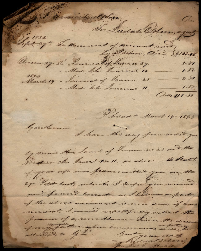 Box1/1823Jan_MayCarmichael_Correspondence/1823Mar19/pg1