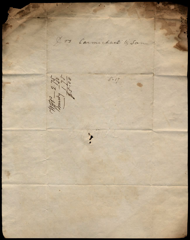 Box1/1823Jan_MayCarmichael_Correspondence/1823May11/verso