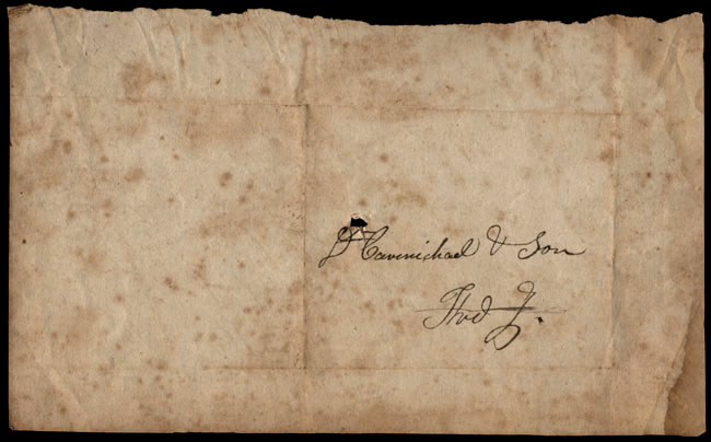 Box1/1823Jan_MayCarmichael_Correspondence/1823May15_Stanard/verso