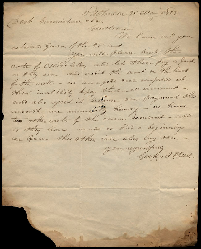 Box1/1823Jan_MayCarmichael_Correspondence/1823May21/recto