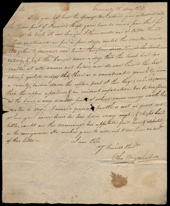 Box1/1823Jan_MayCarmichael_Correspondence/1823May28/recto