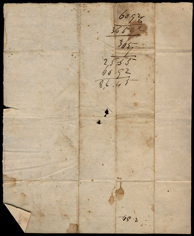 Box1/1823Jan_MayCarmichael_Correspondence/1823May28/verso