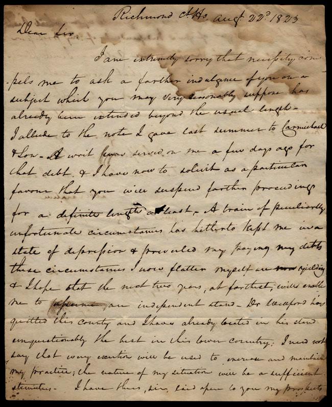 Box1/1823Jun_DecCarmichael_Correspondence/1823Aug22/recto