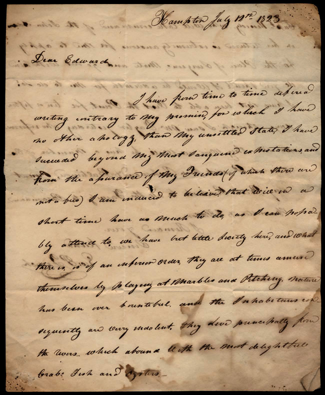 Box1/1823Jun_DecCarmichael_Correspondence/1823Jul12_French/pg1