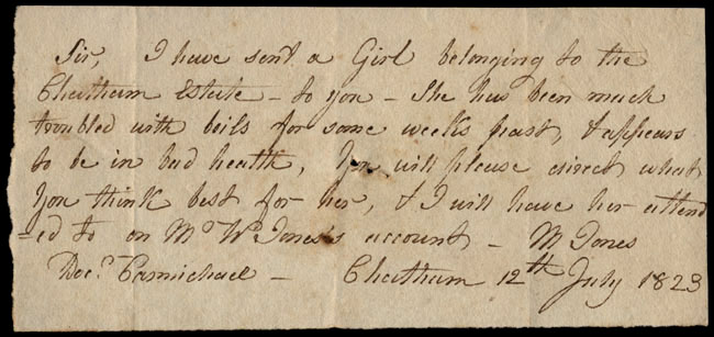 Box1/1823Jun_DecCarmichael_Correspondence/1823Jul12_Jones/recto