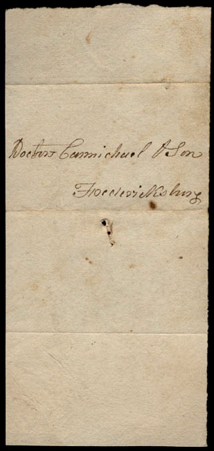 Box1/1823Jun_DecCarmichael_Correspondence/1823Jul12_Jones/verso