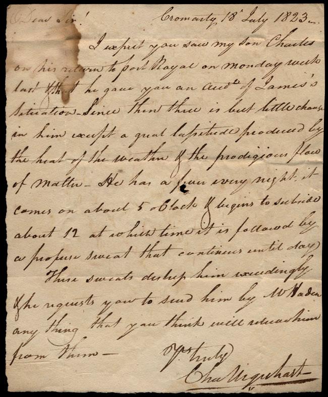 Box1/1823Jun_DecCarmichael_Correspondence/1823Jul18/recto