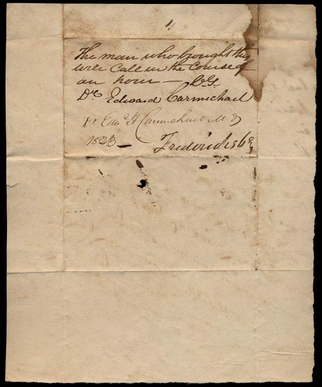 Box1/1823Jun_DecCarmichael_Correspondence/1823Jul18/verso