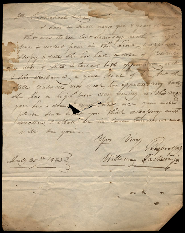 Box1/1823Jun_DecCarmichael_Correspondence/1823Jul25/recto