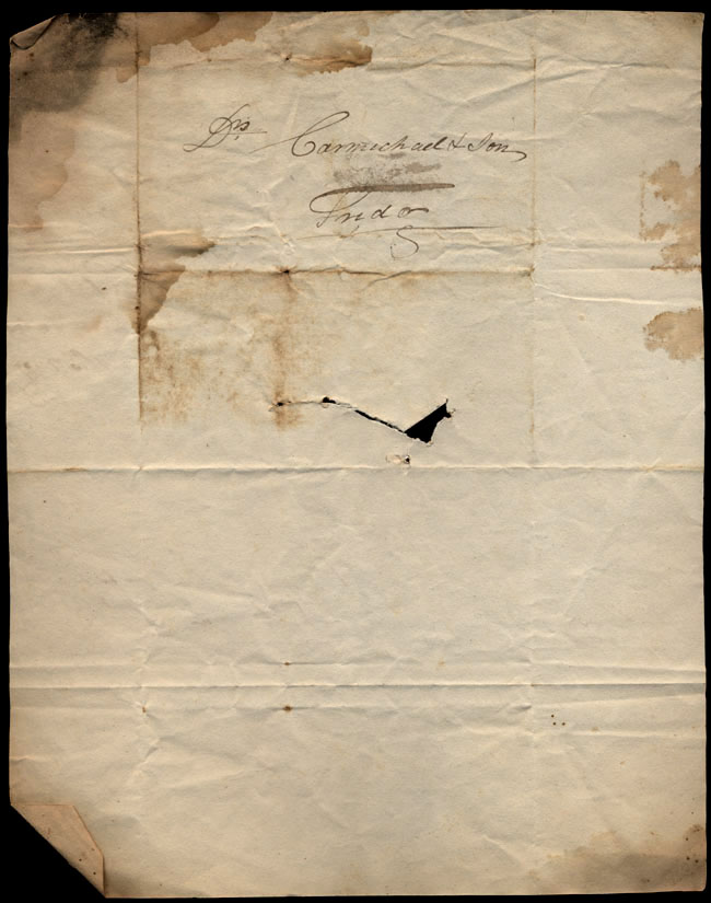 Box1/1823Jun_DecCarmichael_Correspondence/1823Jul25/verso