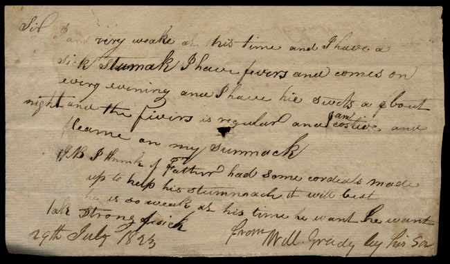 Box1/1823Jun_DecCarmichael_Correspondence/1823Jul29/recto