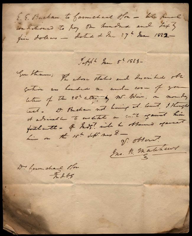 Box1/1823Jun_DecCarmichael_Correspondence/1823Jun05/pg1