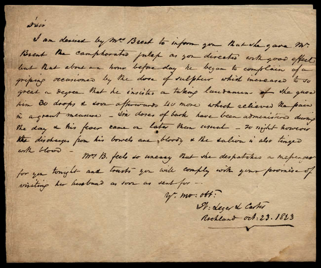 Box1/1823Jun_DecCarmichael_Correspondence/1823Oct23/pg1