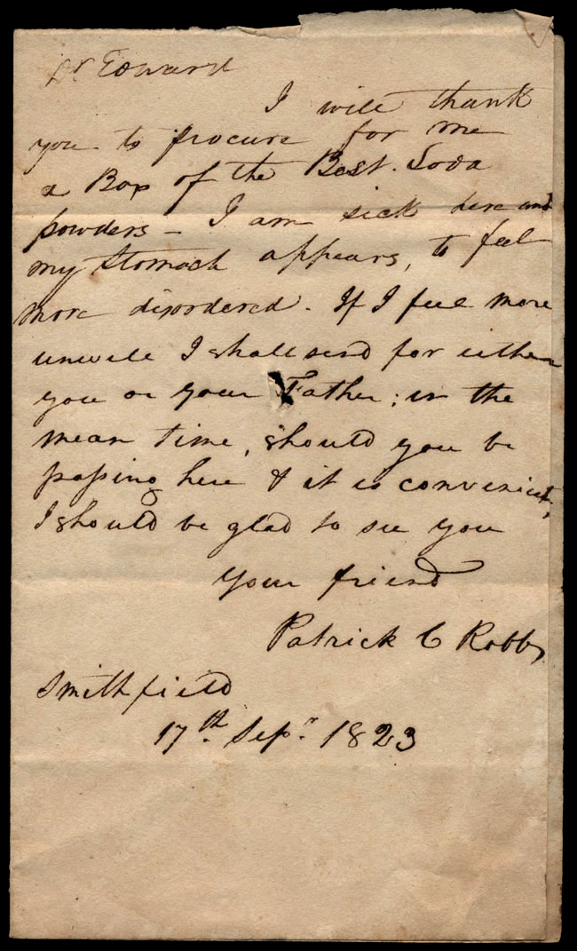 Box1/1823Jun_DecCarmichael_Correspondence/1823Sep17/pg1