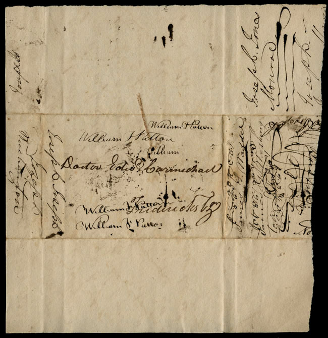 Box1/1823Jun_DecCarmichael_Correspondence/1823Sep18/verso