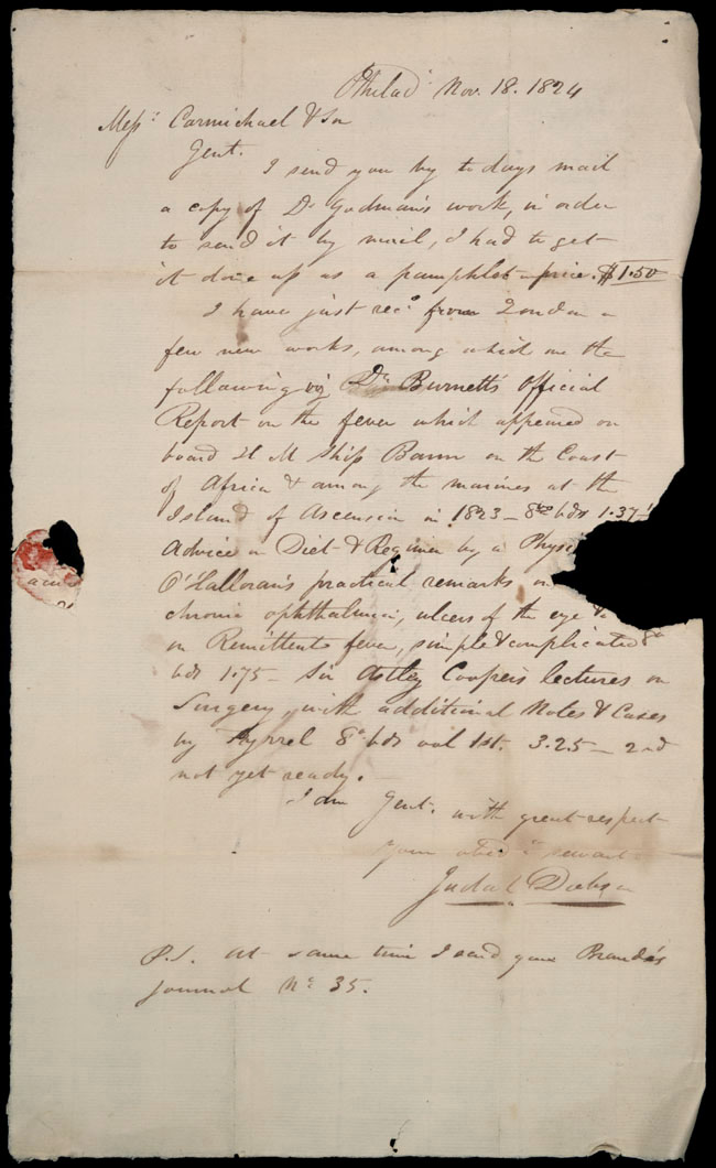 Box1/1824Carmichael_Correspondence/1824Nov18/recto