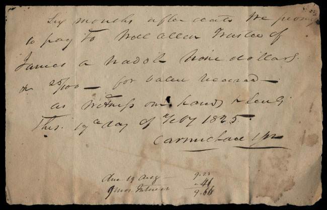 Box2/1825Carmichael_Correspondence/1825Feb19/recto