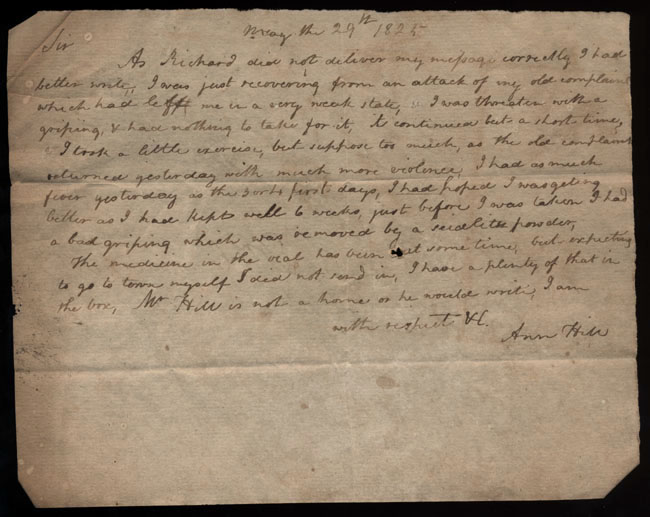 Box2/1825Carmichael_Correspondence/1825May29/recto