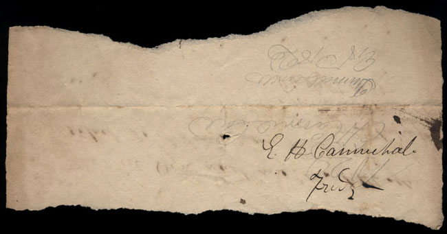 Box2/1825Carmichael_Correspondence/1825Sep26/verso