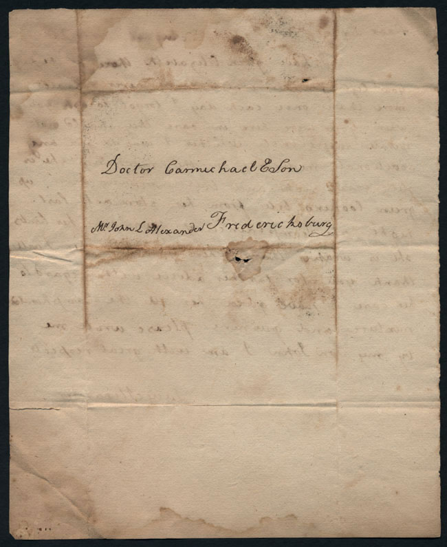 Box2/1826Carmichael_Correspondence/1826Aug08_Alexander/verso