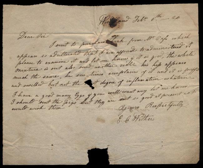 Box2/1826Carmichael_Correspondence/1826Feb06/recto