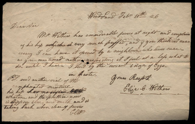 Box2/1826Carmichael_Correspondence/1826Feb11/recto