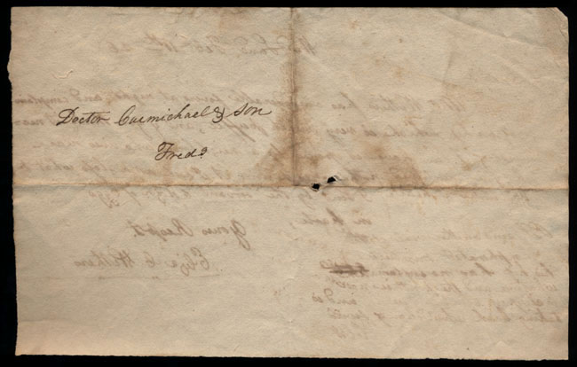 Box2/1826Carmichael_Correspondence/1826Feb11/verso
